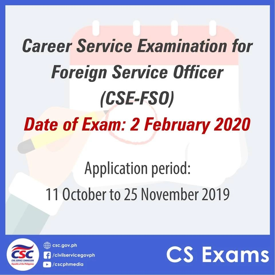 2020 Career Service Examination for Foreign Service Officer (CSE-FSO)