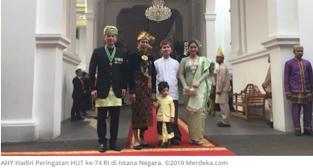 Jokowi dan Jan Ethes Sambut AHY-Annisa di Istana Merdeka