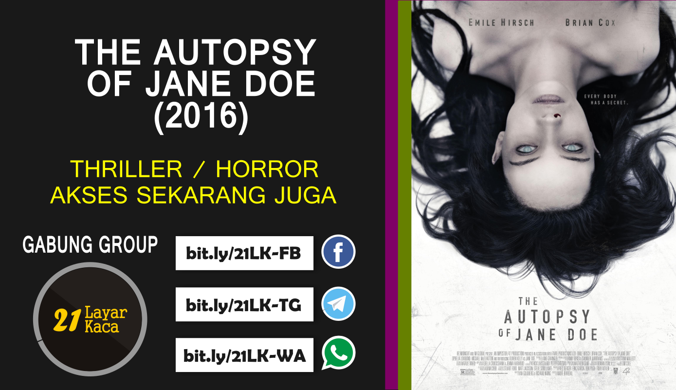 THE AUTOPSY OF JAE DOE (2016) - SUB INDO - 21 LayarKaca ...