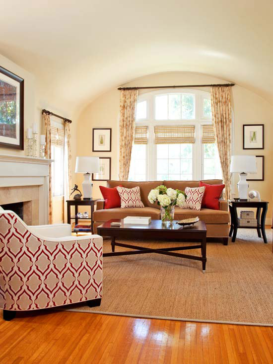 Living Room Coloring: New Home Interior Design: Warm Color Schemes