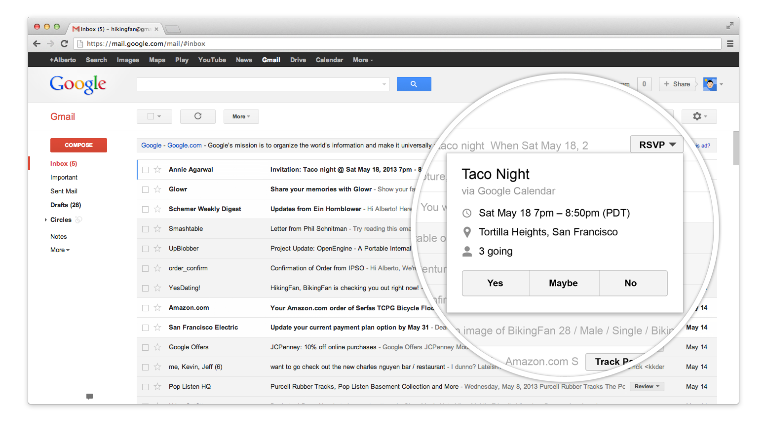 Gmail Inbox: Official Gmail Blog: Take Action Right From The Inbox