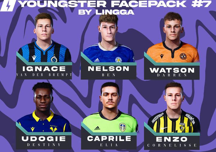 Youngster Facepack V7 2021 For eFootball PES 2021