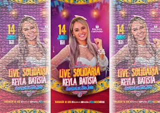Cantora itiruçuense Keyla Battista faz Live Solidária no You tube