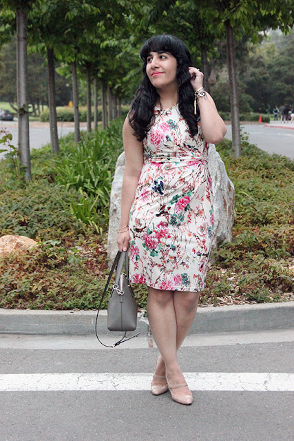 Le Tote Uttam Floral Dress SF Office Outfit