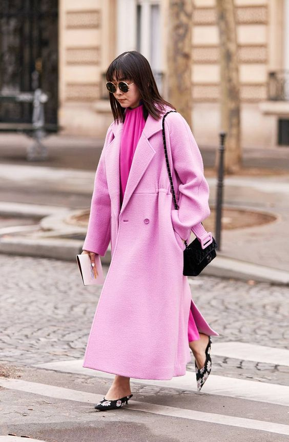 pink street style fashion