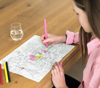 Color in Paper Placemats - City Map