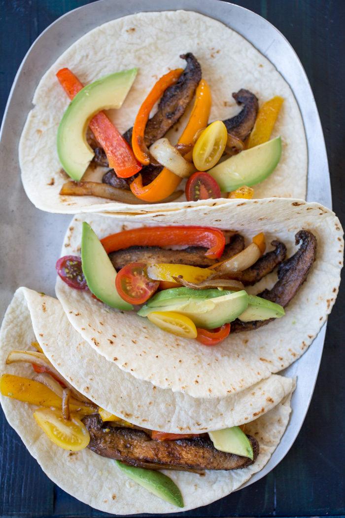 PORTOBELLO FAJITAS #vegetarian #cauliflower #vegan #paleo #yummy