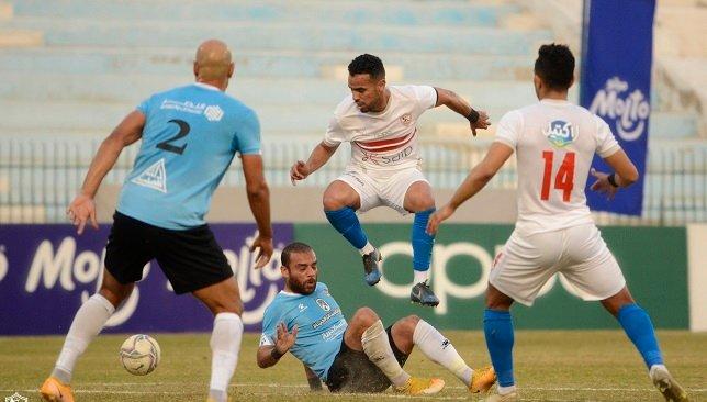 مباراة الزمالك ضد  غزل المحلة الدوري المصري