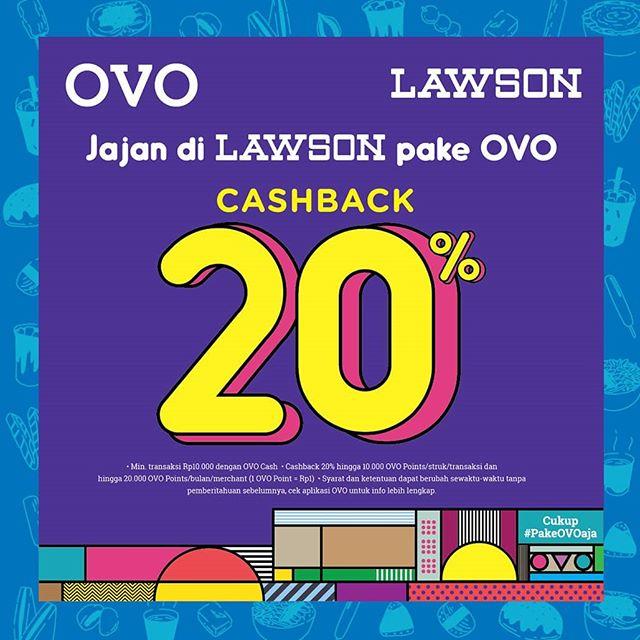 Lawson Promo Cashback 20 Jajan Lawson Pakai Ovo Promosi247