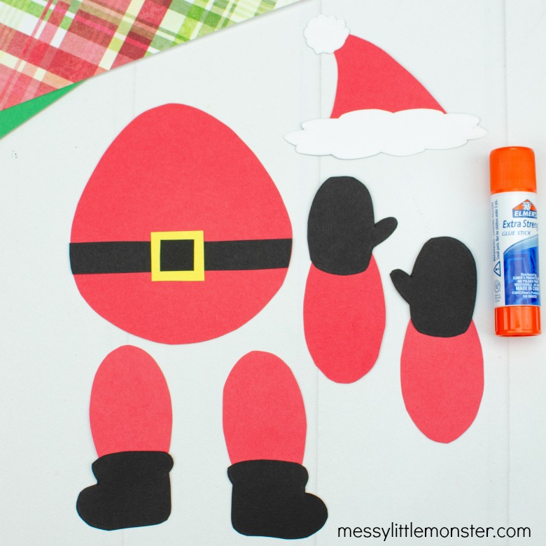 Santa craft template for kids