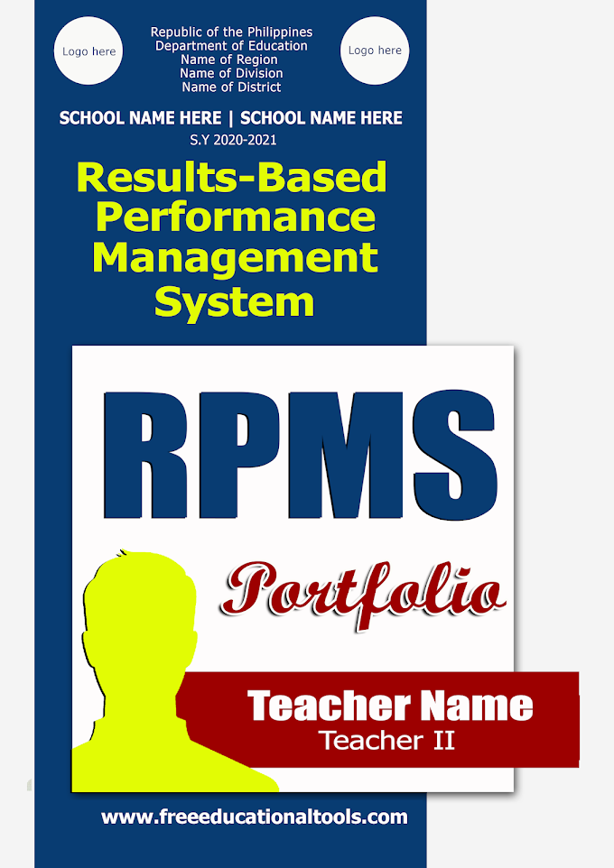 Microsoft Word Template   Editable Cover for RPMS   LDM 2 Portfolio for Teachers   Download Here