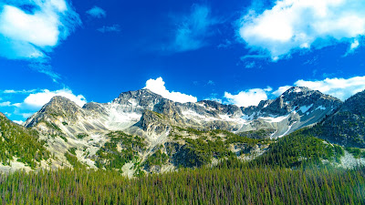 Clouds, Landscape, Mountain, Forest, Trees