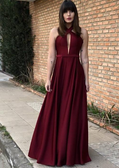 vestido marsala para madrinha
