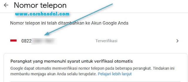 Mengganti No HP di Gmail