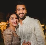 mehreen kaur pirzada with her brother