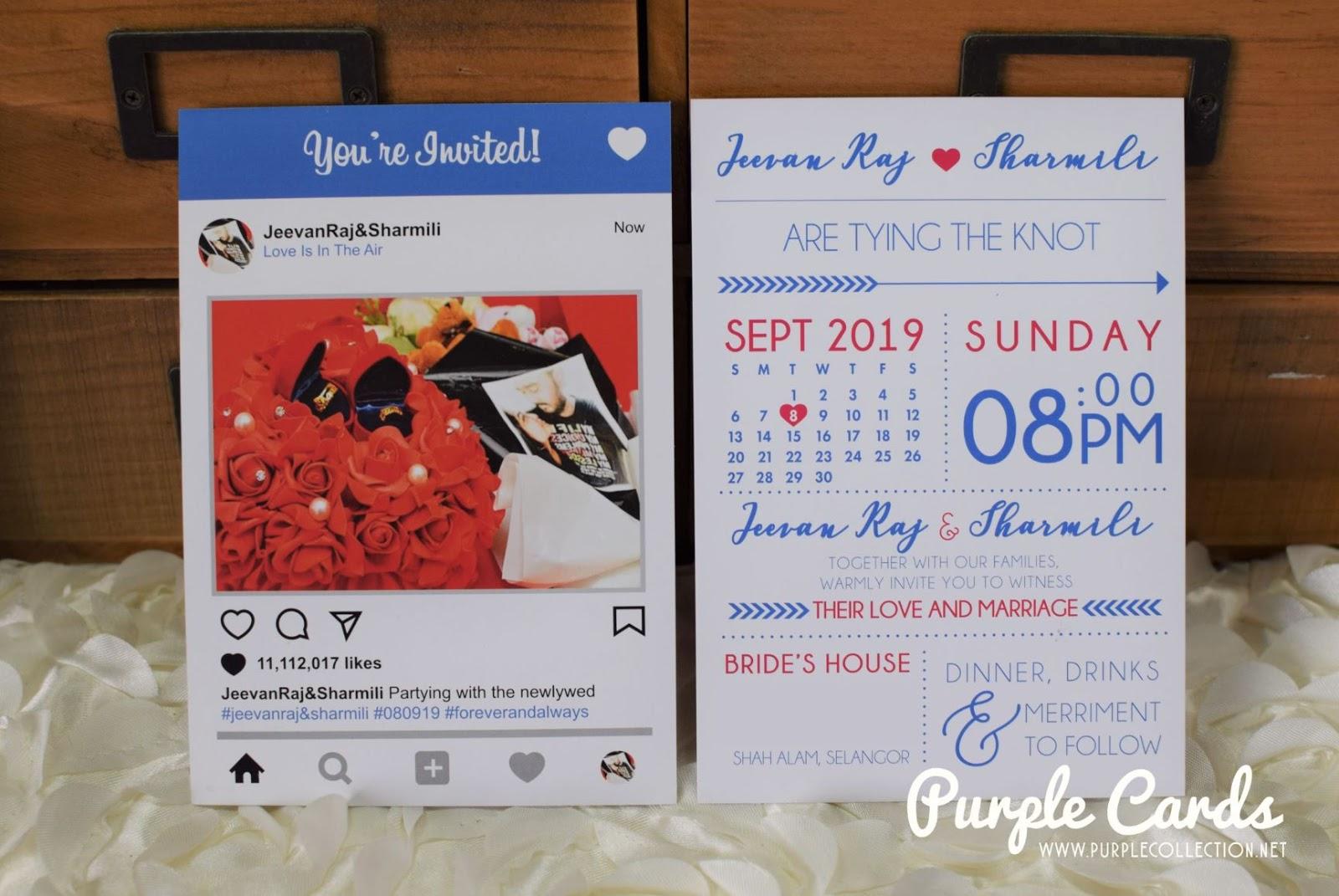 Instagram Wedding Invitation Card