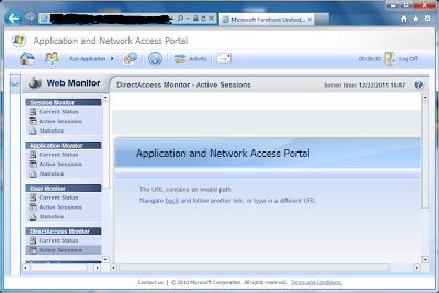 UAG web monitor