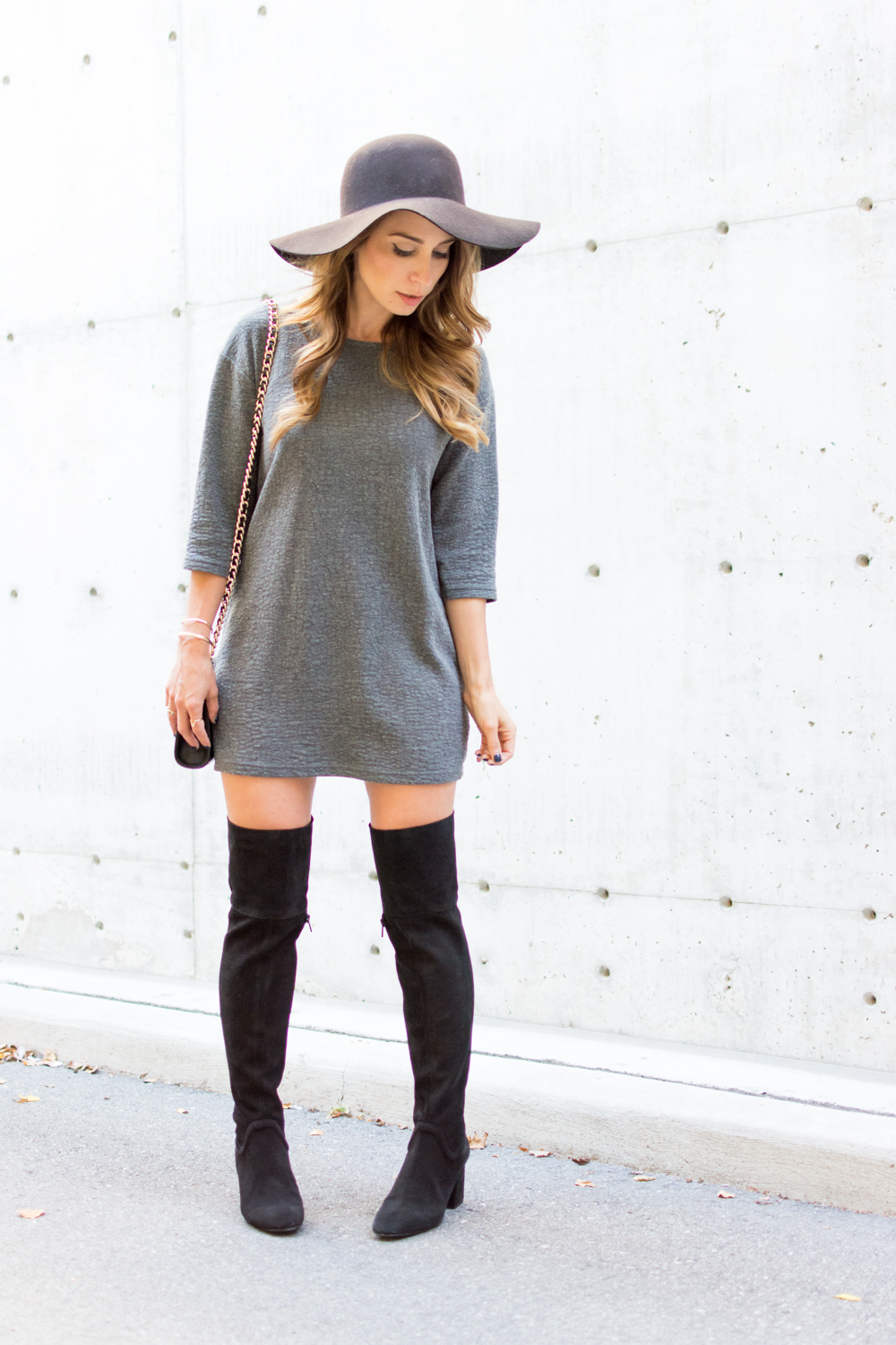 ootd  over the knee boots  la petite noob  a toronto