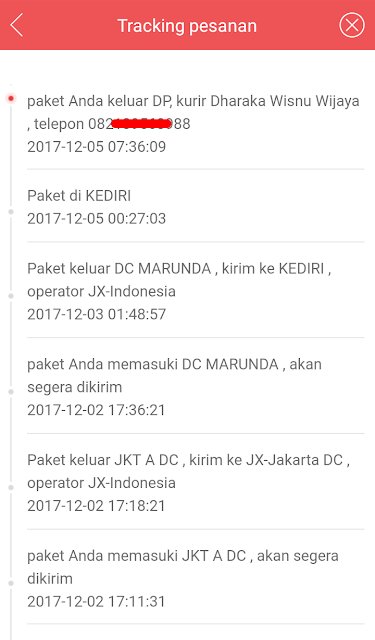 Cara Melacak Barang J-Express melalui Aplikasi JD.id 13