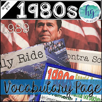 Image of 1980s Vocabulary Page