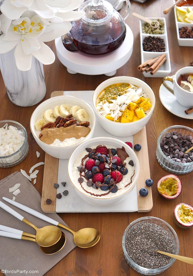 Décor de Table Hygge Pour Un Brunch d'Hiver + Recettes de Porridge d'Avoine
