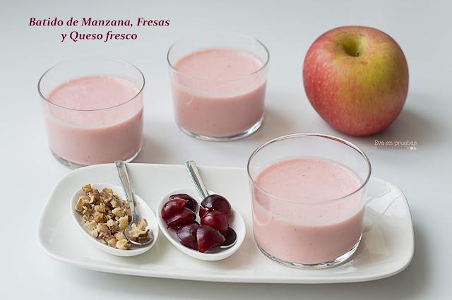 Batido de Manzana y fresas / Eva en pruebas