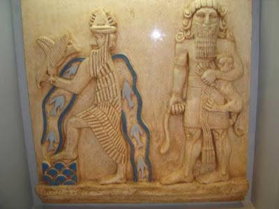 Una possibile rappresentazione di Enki e Ziusudra