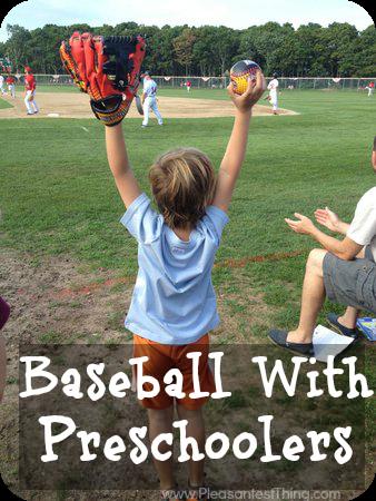 Preschoolers at baseball games