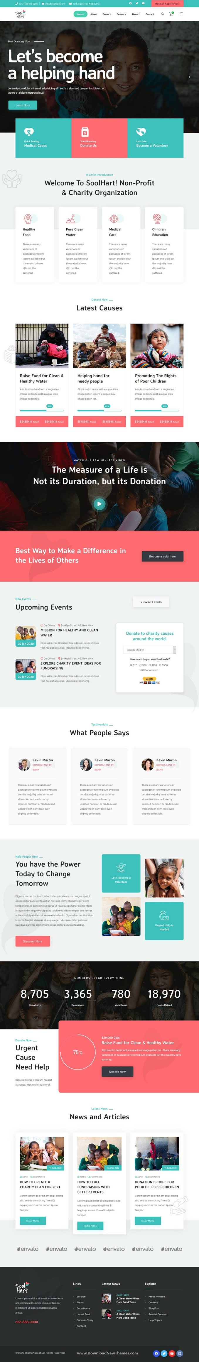 Charity NonProfit HTML Template