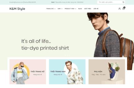 Giao diện blogger bán hàng thời trang tiếp thị Accesstrade