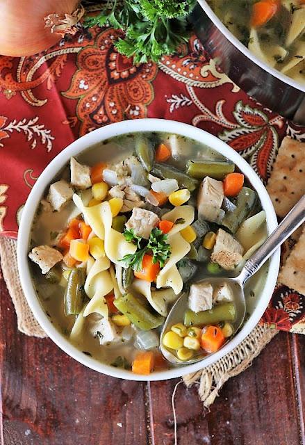 Bowl of Quick Turkey Noodle Soup Image