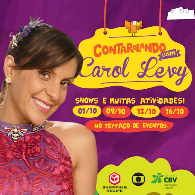 Carol Levy faz show no shopping recife