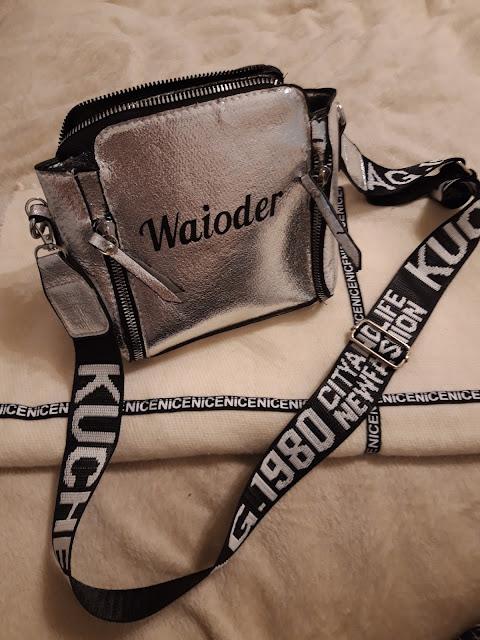 """""""Waioder"""", сумочка серая с алиэкспресс """"Waioder"""", сумка с али, серая сумочка, серебристая сумка с цепью,"""