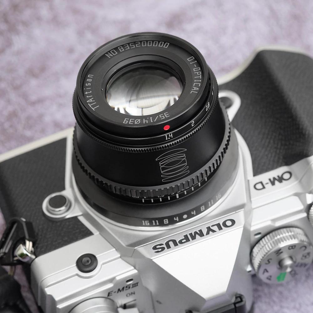 Объектив TTartisan 35mm f/1.4 с камерой Olympus
