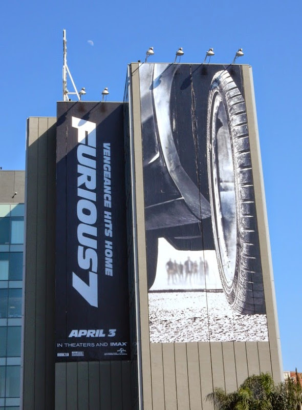 Furious 7 film billboard