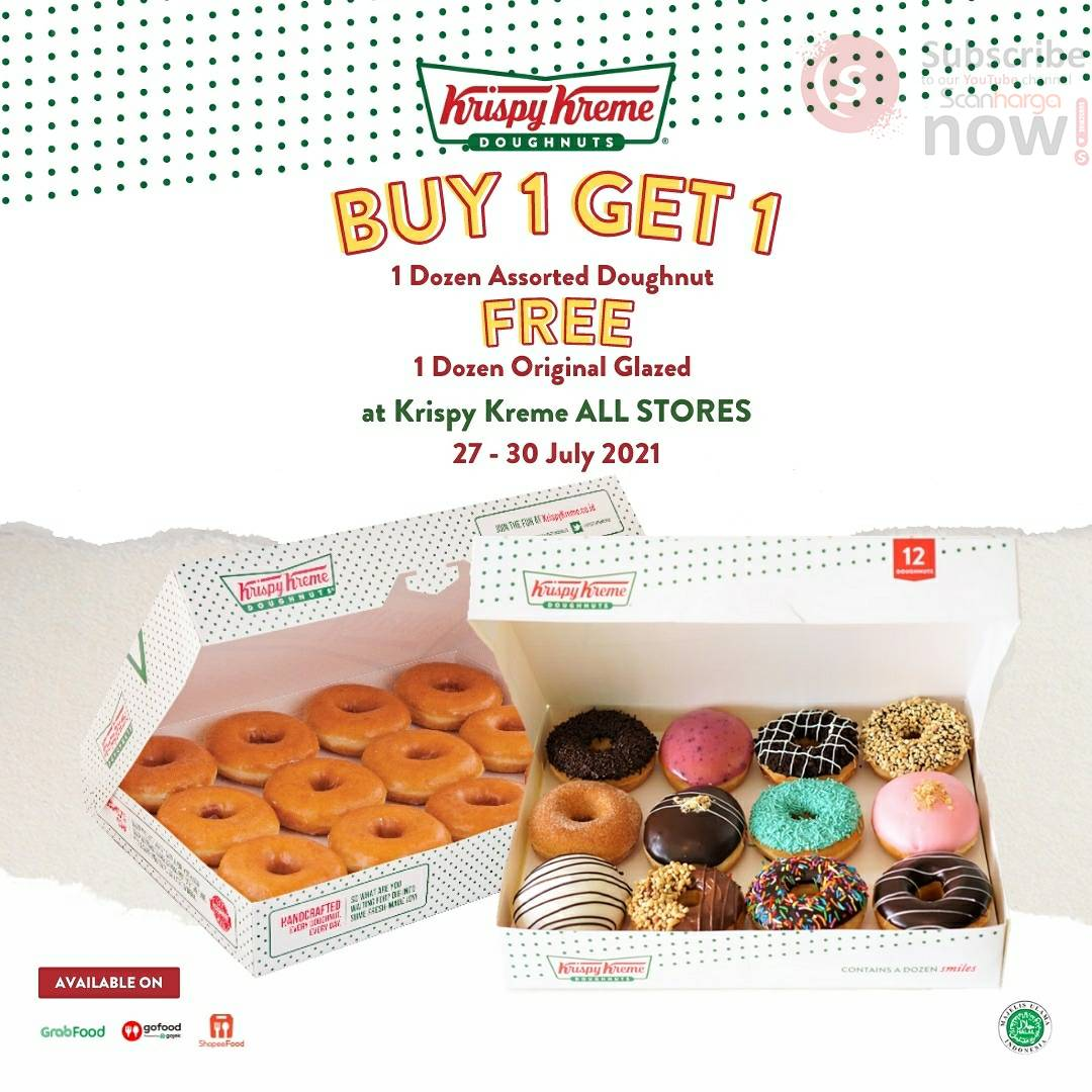 Promo Krispy Kreme Payday - Buy 1 Get 1 khusus Delivery