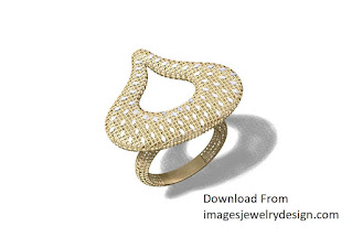 Dubai style gold ring designs images for female