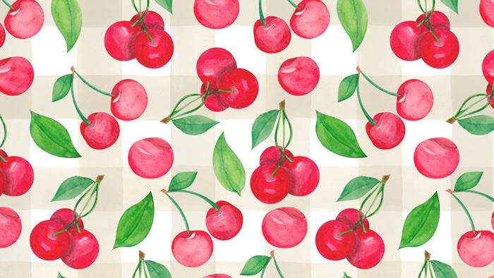 Buffalo Check Cherry Design