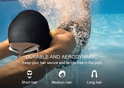 PrimAlite Swimming Cap to Protect Your Long, Thick and Curly Hair from Tank Water