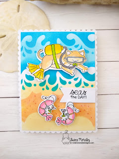 Seas The Day a card by Diane Morales - Scuba Newton Stamp Set by Newton's Nook Designs