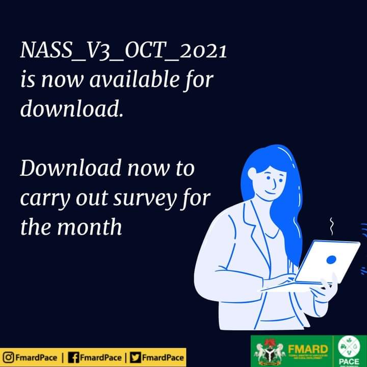 Dear Enumerators NASS_V3_OCT_2021 is now available for download