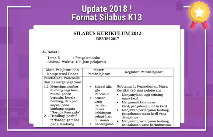 Update Rabu 14 Maret 2018 Format Silabus K13