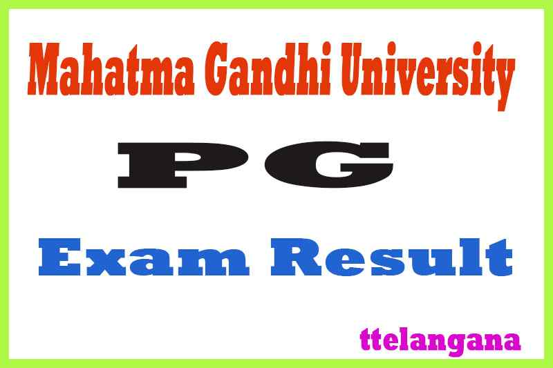 Mahatma Gandhi University MGU PG Exam Results
