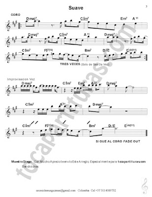 Hoja 3 Partitura de Piano a Dúo con los Instrumentos de abajo Luis Miguel Sheet Music Suave