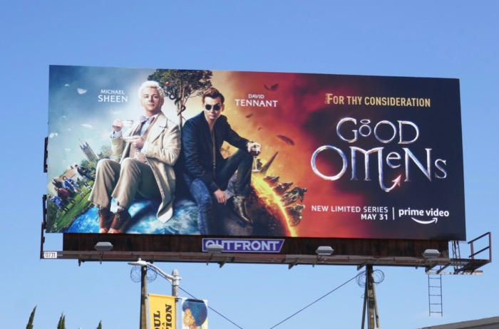 Good Omens for thy consideration billboard