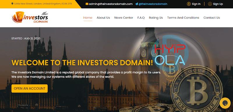 [SCAM] Review TheInvestorsDomain - Lãi từ 9% hằng ngày - Thanh toán tức thì