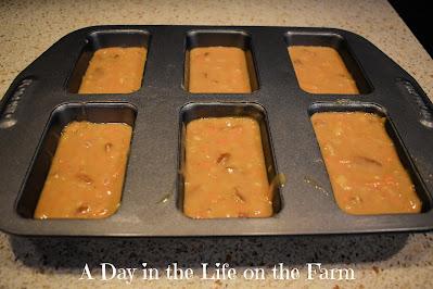 carrot pineappple mini loaves