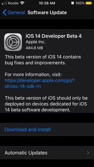 تنزيل تحديث ios 14 beta 4 و نظام IpadOs 14 beta 4 التجريبي [ Apple ]