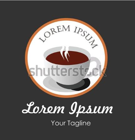 illustration drawing logo design for restaurant