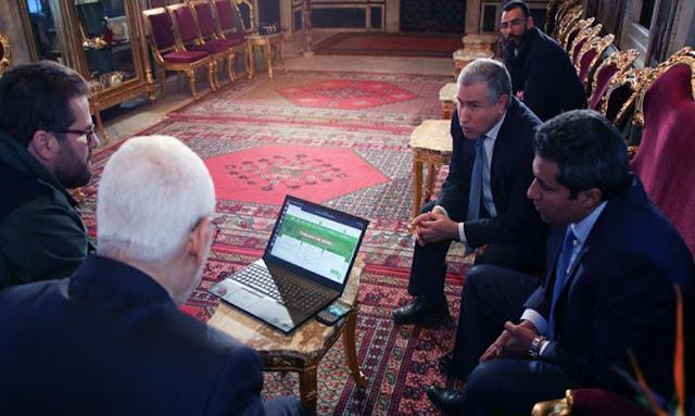 أنور معروف يقدم لـ راشد غنوشي منصّة التواصل الإلكترونية للبرلمان